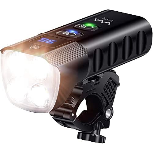 S$S Bicycle Light Kit USB Ricaricabile IP65 Lampada da Bicicletta Impermeabile con 2000 Lumen 13 Modello di Luce Faro della Bicicletta Faro del Faro Adatto per Tutte Le Strade