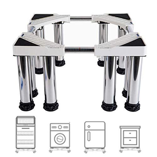 Trolley Washer and Dryer Stands, Multi-Functional Movable Adjustable Base Stand, Pedestal for Washing Machine Stainless-Steel with 12 Foot,20cm