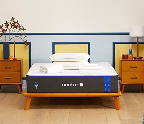 Nectar Twin Mattress - 2 Free Pillows - Gel Memory Foam Mattress - CertiPUR-US Certified Foams - Forever Warranty