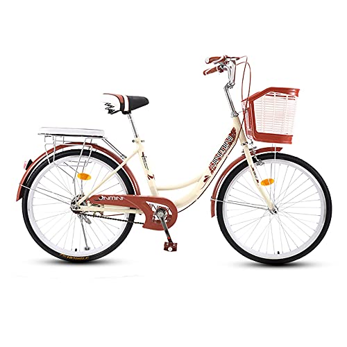 Bike, Retro Fashion Commute Bicycle, 26 inch Single Speed Leisure Bike, Low-Span High-Carbon Steel Frame, for Adults/Teenagers/A / 179x95cm
