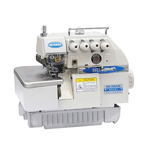 KEHUITONG Equipo de transmisión Directa de Cuatro Hilos Selvedge la máquina de Coser Mano de Obra Fina, garantía de Calidad (Color : White)