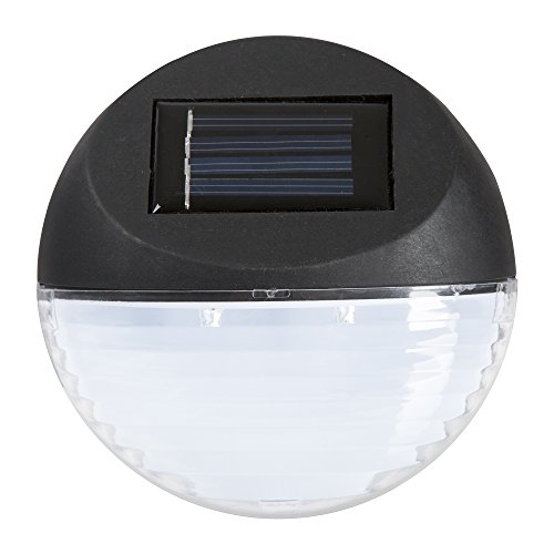 Pure Garden Solar Lights – Outdoor Rechargeable Battery Powered LED Exterior Lighting with Auto On for Home, Patio, Deck and Driveway, Black, Model: 50-131