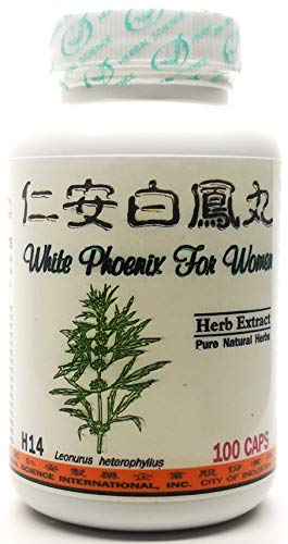 White Phoenix for Women Dietary Supplement 500mg 100 Capsules (Jen On Bai Feng Wan) H14 100% Natural Herbs