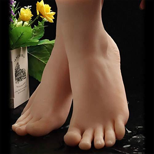 YZZ 1 Paire de Silicone Vie Taille Femme Mannequin Pied Chaussures Mannequin Affichage Afficher Chaussette Chaussures Sandal Affichage Art Sketch