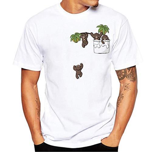 Verano y oto/ño Camiseta y Camisa para Hombre de Moda 2019 AIMEE7 Ropa Hombre Camiseta Casual Manga Corta con Cuello Redondo y Estampado Digital 3D de Fuego Casual Deportiva de Primavera