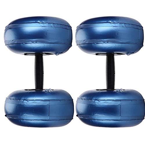 Manubri Pieni d'Acqua, Peso Regolabile Manubri d'Acqua Bilancieri 5-10 kg Manubri Fitness Yoga Palestra Attrezzatura per Esercizi A Casa per Uomini Donne (Una Coppia, Blu)