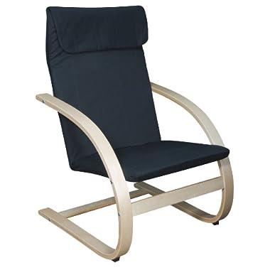 Niche Mia Reclining Bentwood Chair,Natural/Black