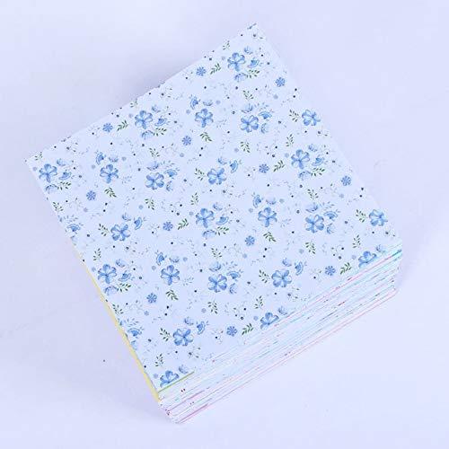 72 manualidades artísticas 12 patrones de fondo de origami patrón floral DIY 15x15cm hermoso papel kraft