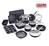 Granite Stone Pots and Pans Set, 20 Piece Complete Cookware + Bakeware Set with Ultra Nonstick 100%...