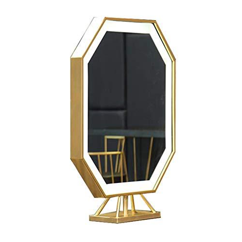 Barbar's Shop Mirror Style Simple avec éclairage LED Simple côté Double Face Miroir Salon de Coiffure Convient pour Salon de Coiffure Salon de Coiffure