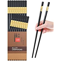 10-Pair Yuesco Metal Japanese Korean Reusable Chopsticks