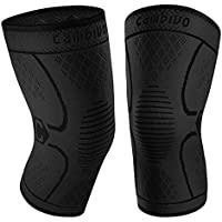 2-Pack Cambivo Knee Compression Sleeve Support for Men and Women