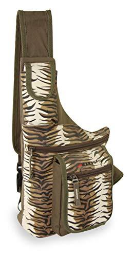 Riñonera Country Safari Bolso Messenger, 39 cm, Marrón Tigrato