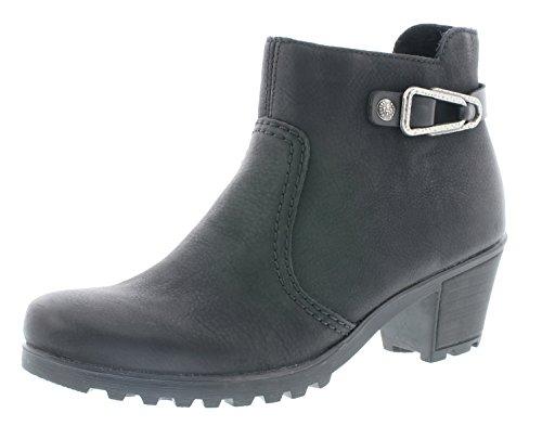 Rieker Y8089 Damen Stiefel, Stiefelette, Schlupfstiefel, Boot, Slip-On-Boot, Silberne Zierspange...