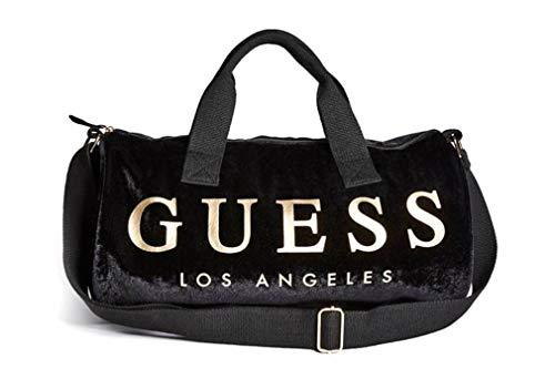 Guess Women's Velvet Logo Small Duffle Bag Handbag