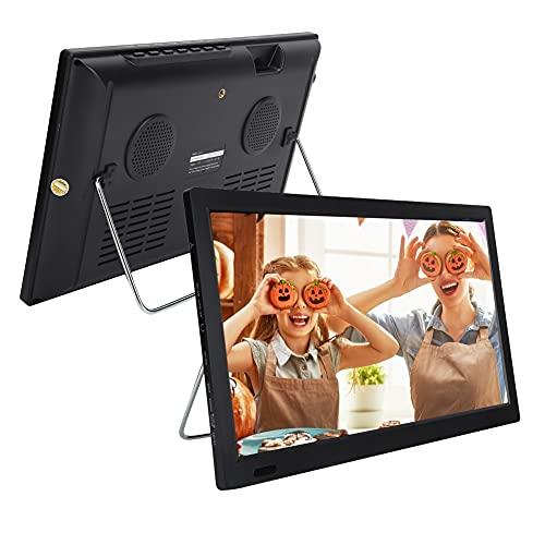 TV HD Portátil con TDT, Pantalla Pequeña de 13 Pulgadas en Color TFT-LED Televisión Analógica Digital con Reproductor de Audio Y...