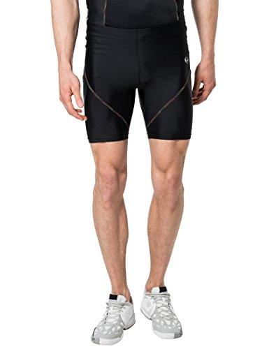 Ultrasport Rainbow Corti Pantalones Cortos, Hombre, Negro, XL