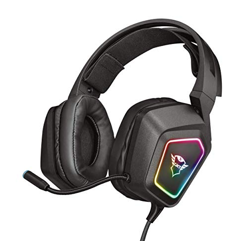 Trust Gaming GXT 450 Blizz Cuffie Gaming, Over-Ear con Illuminazione RGB e Suono Surround 7.1, Microfono Flessibile, per PC - Nero, taglia unica
