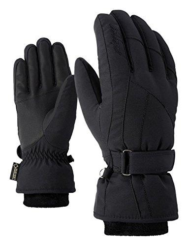 Ziener Damen KARMA GTX Gore plus warm lady glove Ski-handschuhe / Wintersport | wasserdicht, atmungsaktiv, sehr warm, schwarz (black), 8