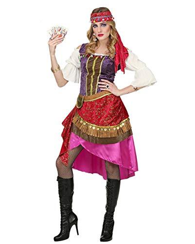 Horror-Shop Wahrsagerin Kostüm mit Kopftuch für Fasching & Karneval M