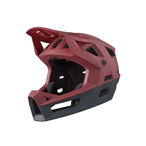 IXS Trigger FF - Casco Integral de Bicicleta de montaña para Adulto, Unisex, Color Rojo, Talla L (58-62 cm)