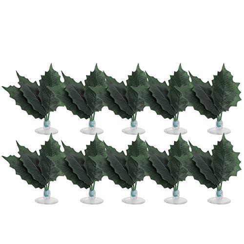 SALUTUYA Planta de plástico de terrario Forma Peculiar como escondite 4.1in