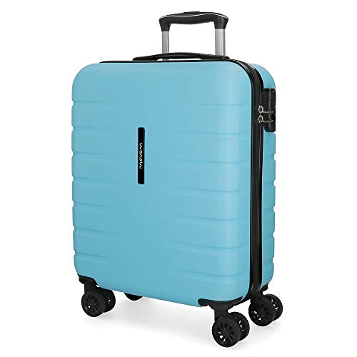 Movom Turbo Maleta de cabina Azul 40x55x20 cms Rígida ABS Cierre combinación...