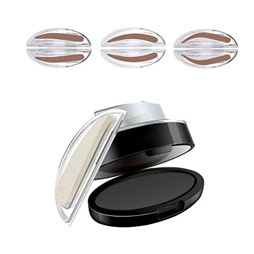 Calayu Augenbrauenstempel, wasserdichter Augenbrauenstempel Puder 3 Paare Puderstempel Augenbrauenkraft Einfache Anwendung Augenbrauenschablone Langlebiges Augenbrauen Make-up