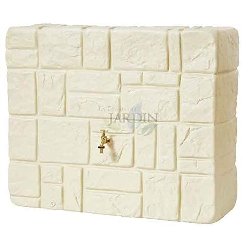 DEPOSITO imitación piedra natural beige mas grifo. Capacidad 340 litros