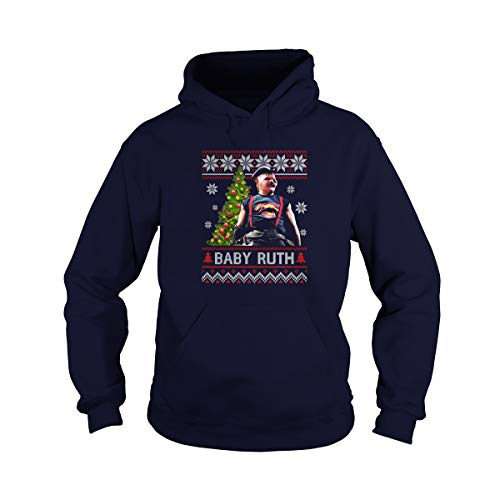 Zoko Apparel Unisex Baby Ruth Ugly Christmas Adult Hooded Sweatshirt (Navy, Small)