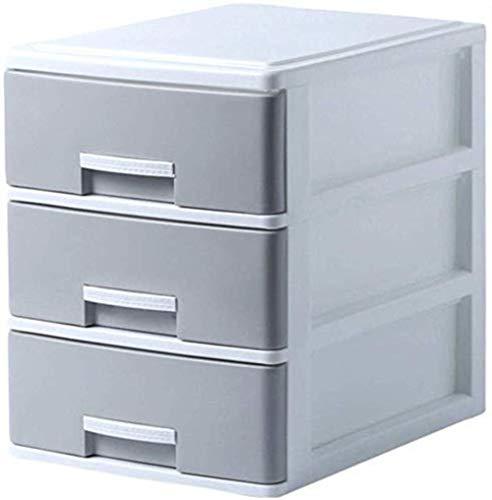 Ablageschränke Aktenschränke Vertikal 3 Schubladenschrank Schlafdatenspeicherschrank Kleidung Aufbewahrungsbehälter aus Kunststoff Schrank 25 * 34 * 32cm Home Office Möbel Bürobedarf (Color : Gray)