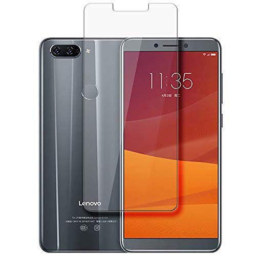 disGuard® Protector de Pantalla [Crystal Clear] compatibile con Lenovo K5 [2 Piezas] Cristal, Transparente, Invisible, Anti-Arañazos, Anti-Huella Dactilar - Película Protectora