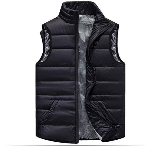 YAR-DRESS 2020 Winter Kids USB Electric Heating Jacket Warm Clothing Hot Jacket for Skiing Winter Heat Jacket Coat Heater for Child,Black,120cm