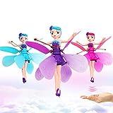 Fée Volante Princesse Poupées Magie IR Induction Contrôle Jouet Cadeaux De Noël (rose et bleu et violet)