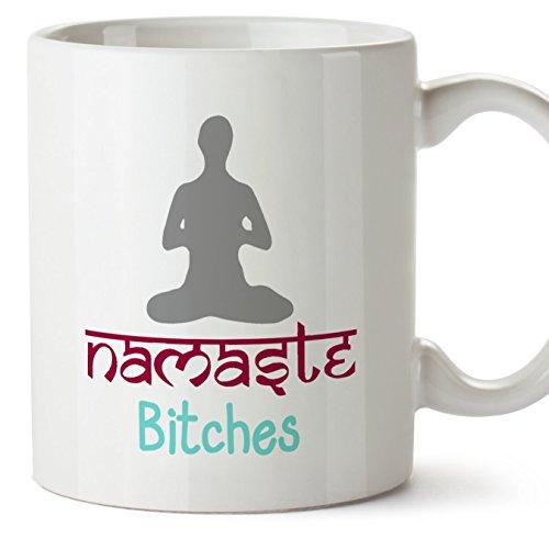 Tazas de desayuno original para regalar adictos al yoga - Regalo para amantes de la...