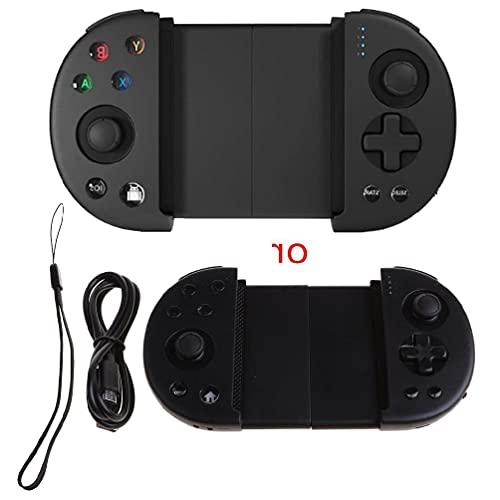 zhoujin Mando inalámbrico para and-Roid/iOS Game Controller retráctil PUBG Mobile Controller Joystick Gamepad con teclas L3 R3 para teléfonos IP Hone y and-Roid inalámbricos para and-Roid