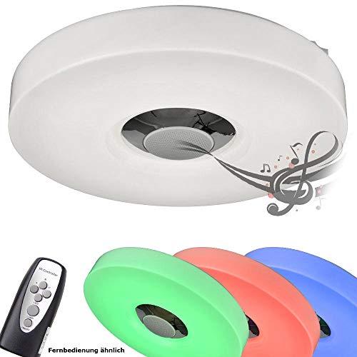 Preisvergleich Produktbild 15W RGB LED Decken Leuchte MP3 Bluetooth Lampe Lautsprecher Fernbedienung Esto 746030