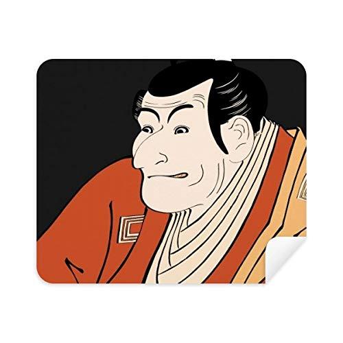 Japanse Stijl Ukiyoe Mannelijke Kimono Telefoon Schermreiniger Bril Reinigingsdoek 2 stks Suede Stof