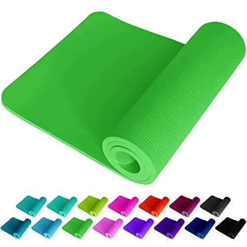 NEU ReFit Fitnessmatte Übungsmatte in Lime Grün Green 1.5 cm rutschfest gelenkschonend geruchtsneutral EXTRA dick und weich Maße 183 cm x 61 cm x 1.5 cm mit praktischem Trageband