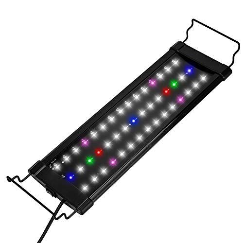 Lychee Illuminazione per Acquario, Acquario Spettro Completo Acquario Dolce, Plafoniera LED Acquario 40 cm,12W ,1200LM