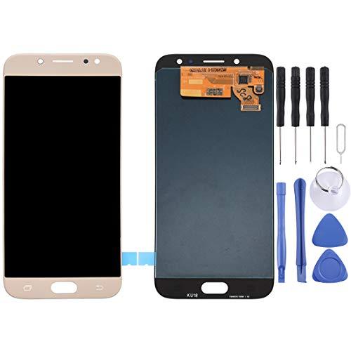 Reparatie Onderdelen Vervanging LCD-scherm en Digitizer Volledige montage voor Galaxy J7 (2017), J730F/DS, J730FM/DS(zwart), Goud