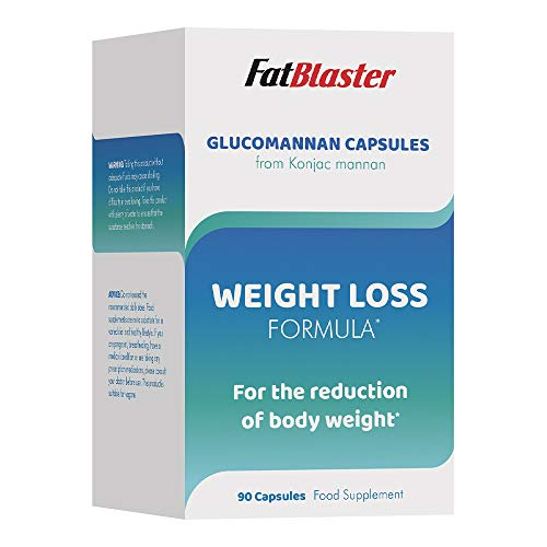 FatBlaster Glucomannan 500mg | Weight Loss Formula | Konjac Fibre | Vegan | 90 Capsules