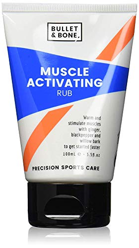 Bullet & Bone Muscle Activating Rub - Muscle Pain Relief, Vegan Friendly 100 ml