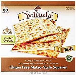 Yehuda Gluten Free Matzo Style Squires Kosher For Passover 10.5 oz. Pack of 6..