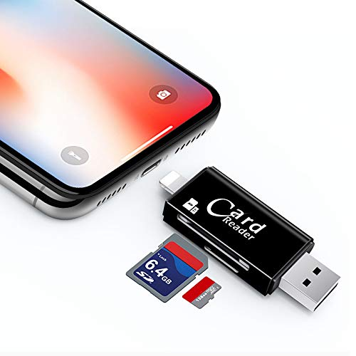 Hub USB 3.0 in Alluminio Premium a 3 Porte, Lettore di schede di Memoria Flash a Doppio Slot TF, SD, Micro SD RS-MMC, Micro SDXC, Micro SDHC, UHS-I per Mac, Windows, Linux, Chrome,b
