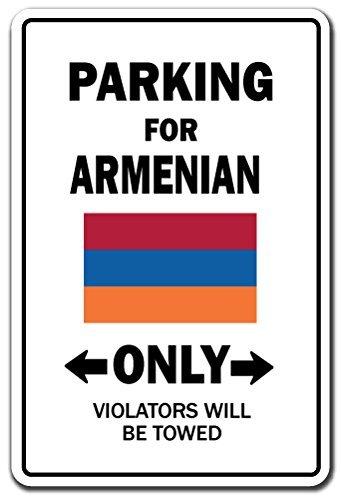 Mesllings Parkeren voor Armeense ALLEEN Teken Armenië Vlag Nationale Trots Liefde | Binnen/buiten | 8