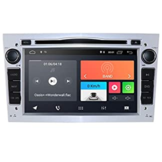 hizpo-Android-10-Autoradio-DVD-Player-mit-Bluetooth-GPS-Navigation-7-Zoll-Touchscreen-Lenkradsteuerung-WiFi-4G-USB-SD-CAM-In-passend-fuer-Opel-Antara-Vectra-Crosa-Vivaro-Zafira-MerivaSilber