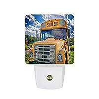 バススクールバスアメリカ宇佐子供 LEDナイトライトランプ自動センサー夕暮れ夜明けに子供赤ちゃん大人部屋ビーチライフブイ