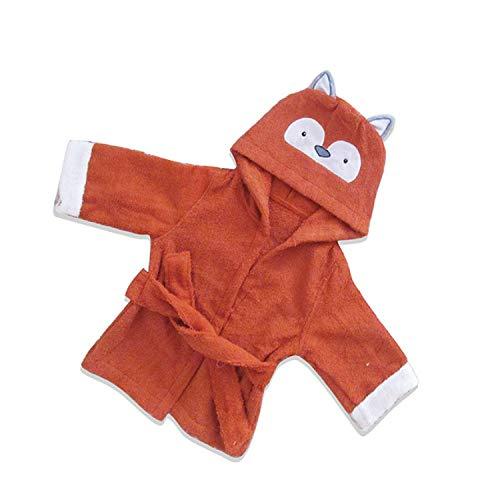 Albornoz de algodón para niños, toalla de baño de bebé, albornoz de luna llena de servicio de 1 pieza Little Fox tamaño grande (3-5 años)