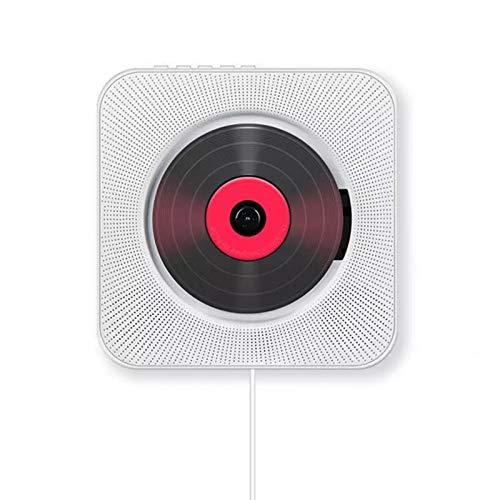 SYXZ Reproductor de CD montado en la Pared, Reproductor de música de Video HDMI 1080P portátil, Altavoces de Alta fidelidad incorporados/Bluetooth/Radio FM, con Control Remoto